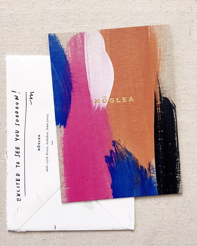 Moglea invitation color and printing