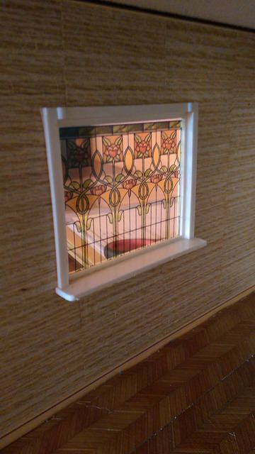 dollhouse printed window leadlight for lundby by miniatureville