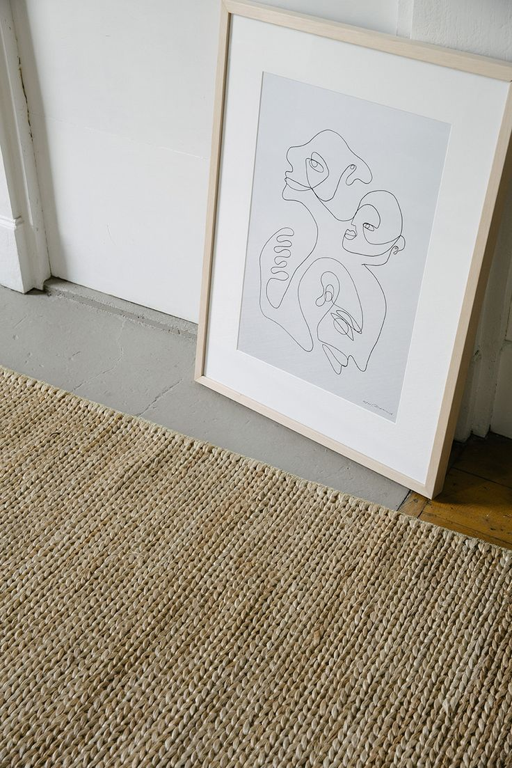 NODI Pony Braid brushed jute rug in Natural.