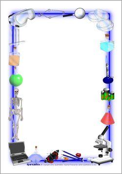 Science Week/science A4 page borders (SB2151) - SparkleBox