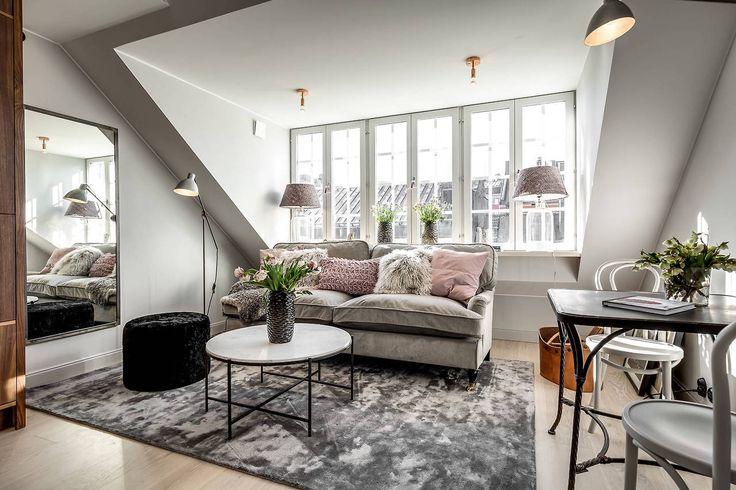 gravityhome:  Attic apartment    Follow Gravity Home: Blog - Instagram - Pinterest - Facebook - Shop  http://ift.tt/2oWDNUB