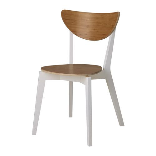 IKEA NORDMYRA Chair Bamboo/white You can stack the chairs, so they take less space when you're not using them.
