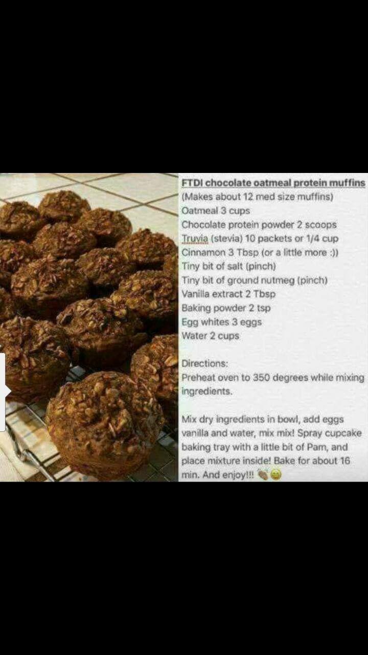 FTDI Chocolate Oatmeal Protein Muffins
