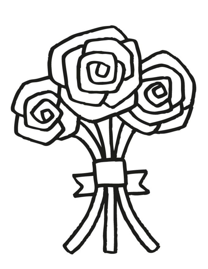 Wedding Bouquet 5 Free Printable Coloring PagesColoring