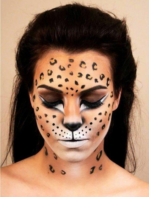 leopard schminke karneval schminken attraktiv