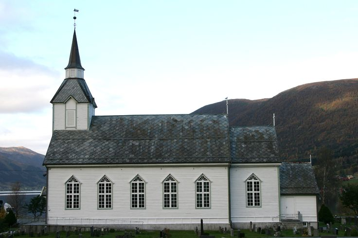 Syvde church, from 1907  My grandma Elisa and my mama, Lily were both baptised in this little church in Syvde, Norway..