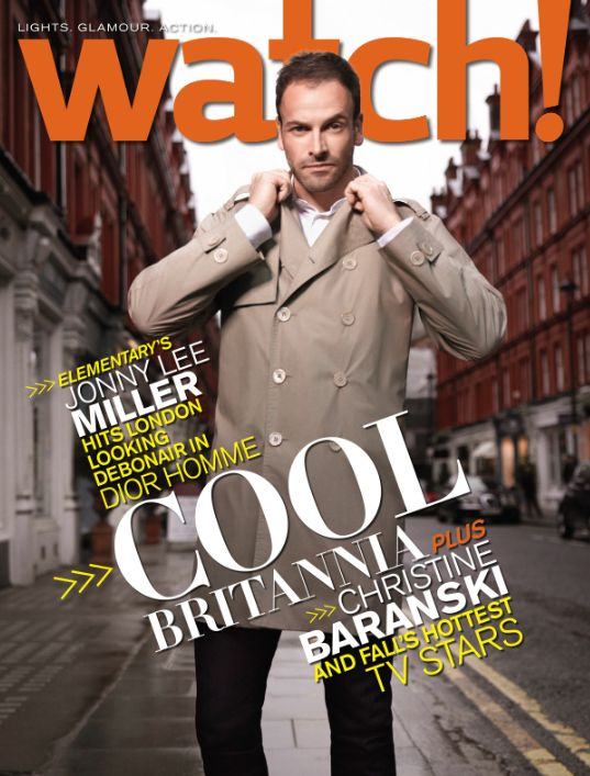 Elementary star Jonny Lee Miller on the August cover of CBS Watch! Magazine