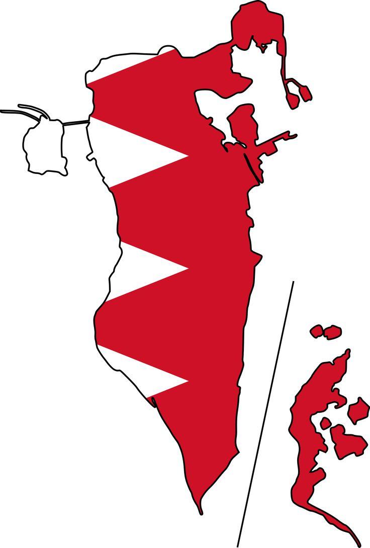Bahrain Flag Map - Mapsof.net