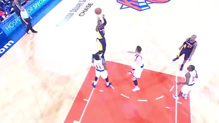 Knicks' Cole Aldrich Manages to Score on Own Basket on Rebound vs. Pacers | Bleacher Report