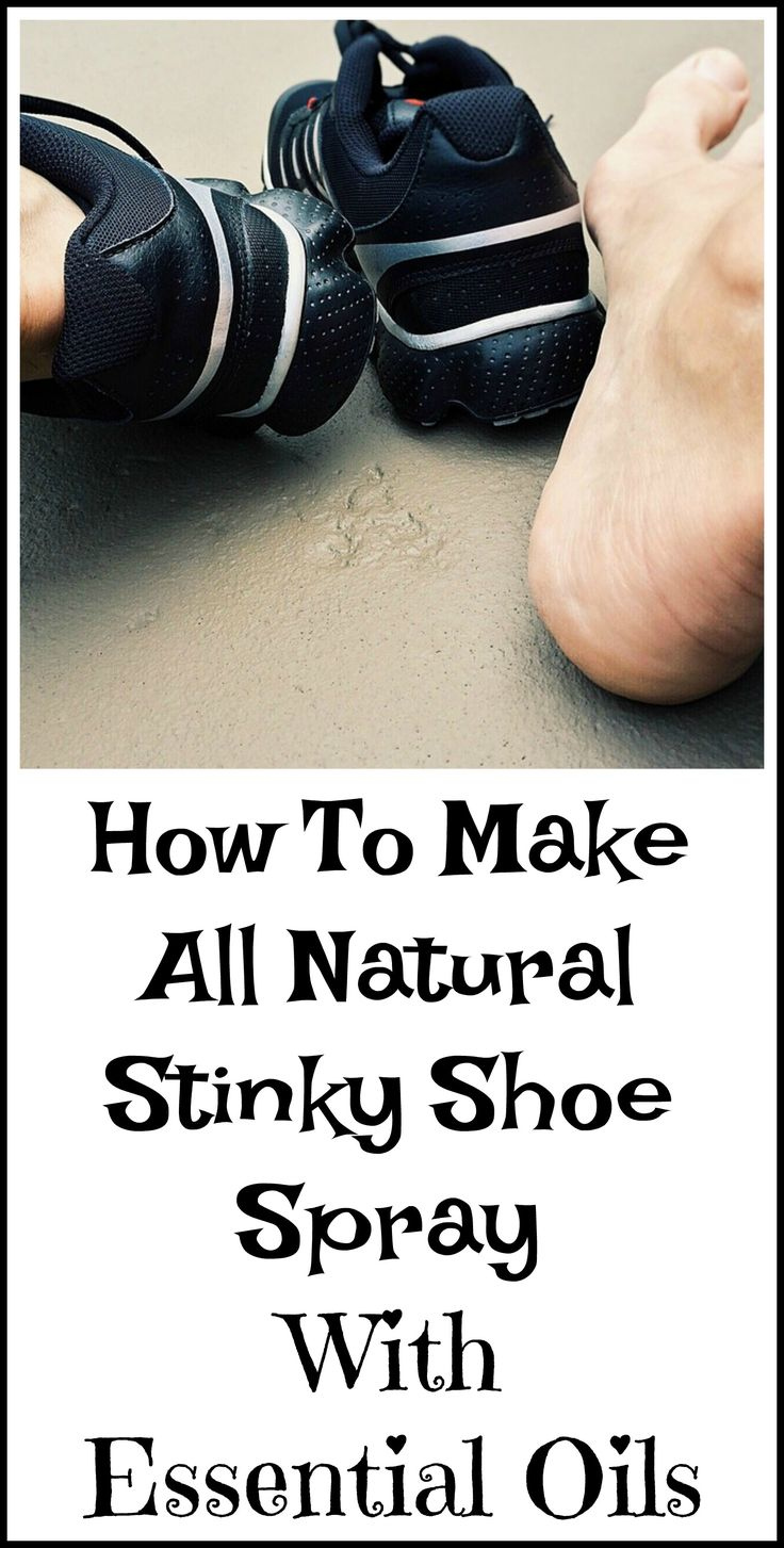How to make stinky shoe spray with essential oils.