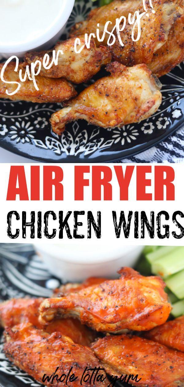 Chicken Wings In Air Fryer Recipe In 2020 Air Fryer Chicken Wings