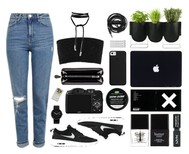 """""""Organic set"""" by baludna ❤ liked on Polyvore featuring Authentics, Butter London, Topshop, Urbanears, Calvin Klein Collection, NIKE, Bottega Veneta, CO and Alessi"""