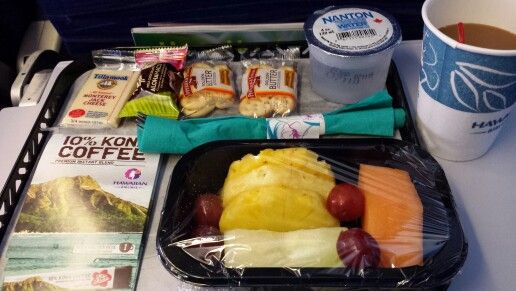Hawaiin Airlines breakfast - delicious!