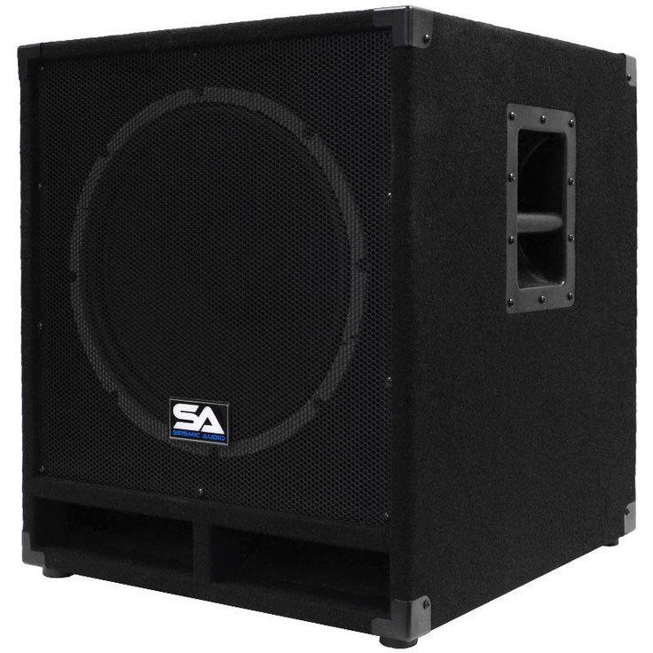 "Seismic Audio Powered 15"" Subwoofer Cabinet PA DJ PRO Band Speaker Active Sub #SeismicAudio"