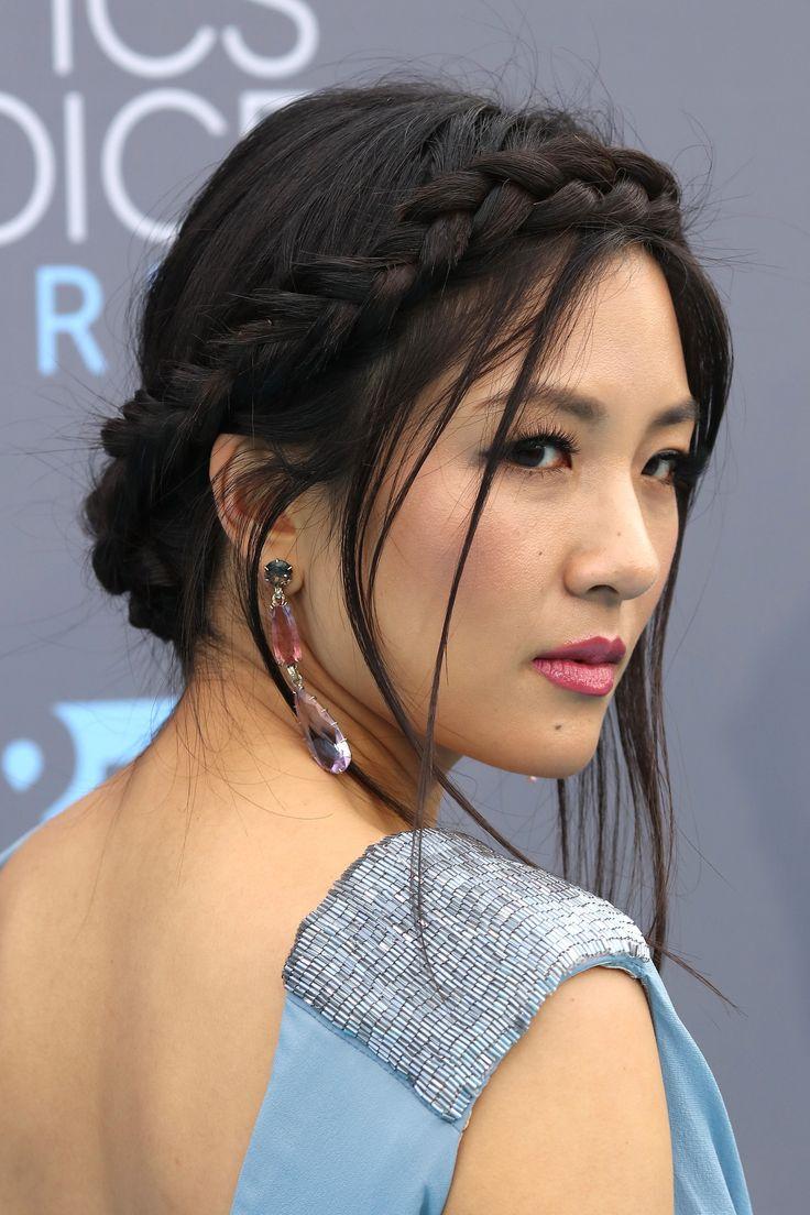 Constance Wu: Critics Choice Awards 2015. Braided Crown Updo