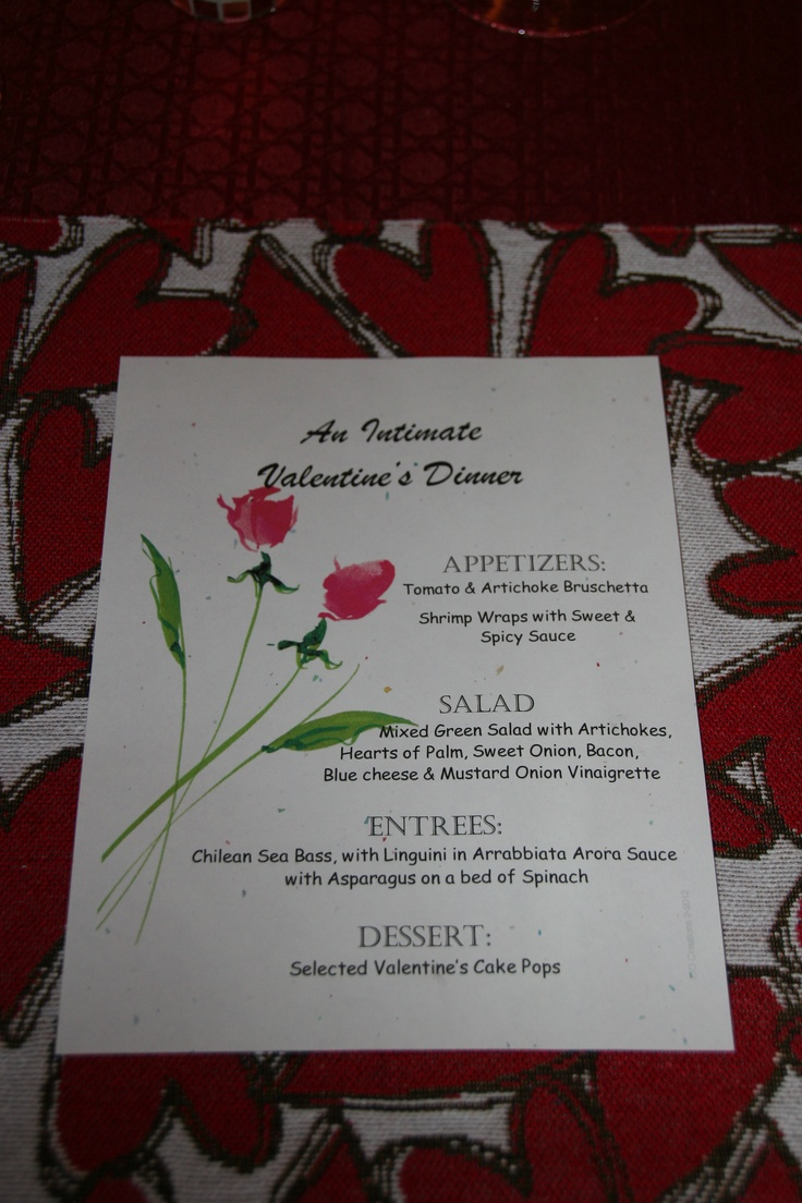 17 best images about valentine dinner menus on pinterest for Best valentines day meals
