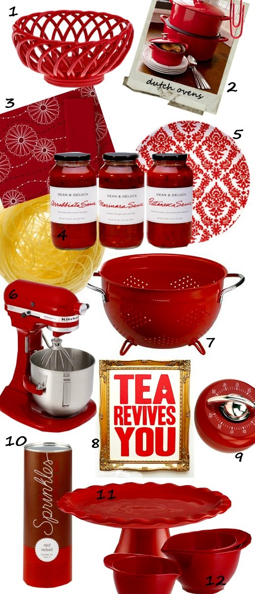 1000 Ideas About Red Kitchen Accents On Pinterest