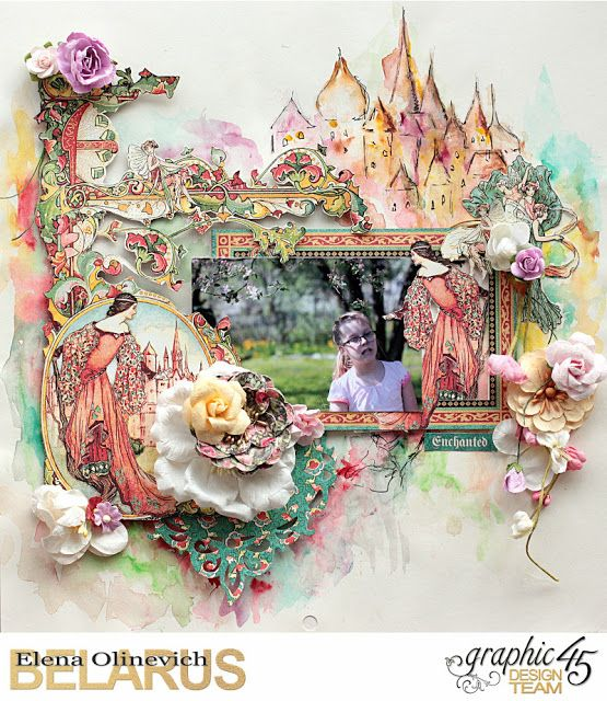 Elena Olinevich: Enchanted Forest Layout and a Video Tutorial - Gra...