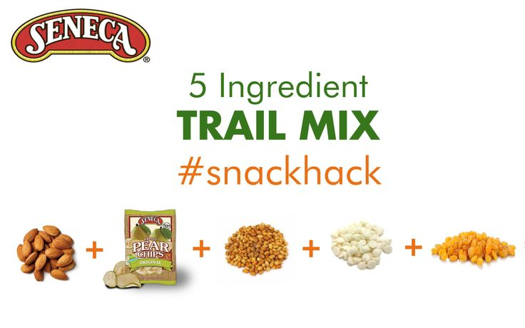 Summer trail mix #snackhack with Seneca Apple Chips