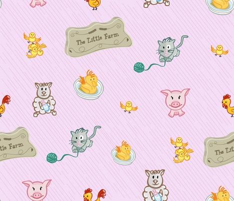LittleFarm fabric by edrouga on Spoonflower - custom fabric