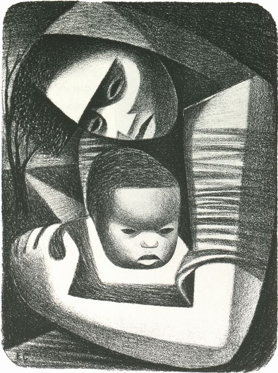 Cave to Canvas, Elizabeth Catlett, Mother and Child, 1944 From...