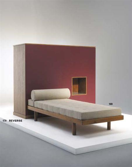 Bed, by Charlotte Perriand, 1959, Maison du Brésil, Cité International Universitaire de Paris, France
