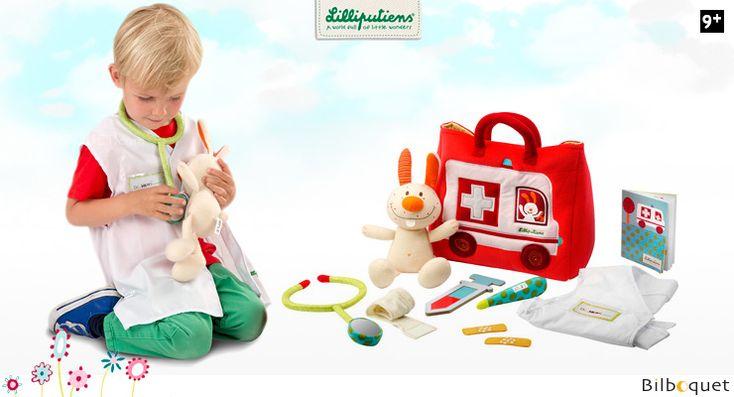 L' ambulance du petit docteur - Jouet d'imitation en textile Lilliputiens