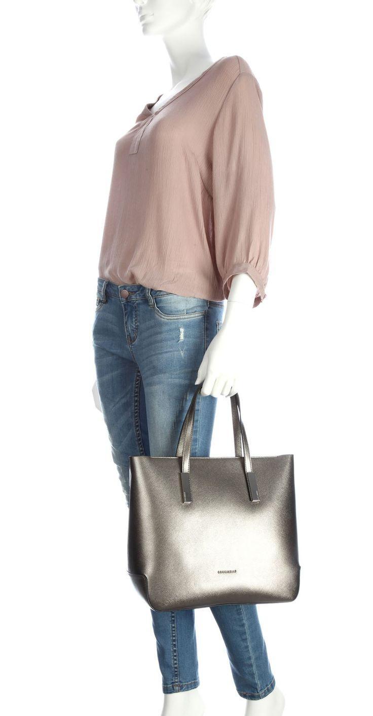 Coccinelle Bess Handbag gold 32 cm - C1VA0180201-124 - Designer Bags Shop - wardow.com