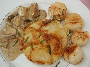 fricassee st jacques cepes