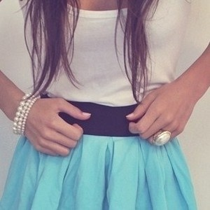 .Baby Blue, Fashion, Style, Clothing, Blue Skirts, Dresses, Summer Skirts, Cute Outfit, Dreams Closets