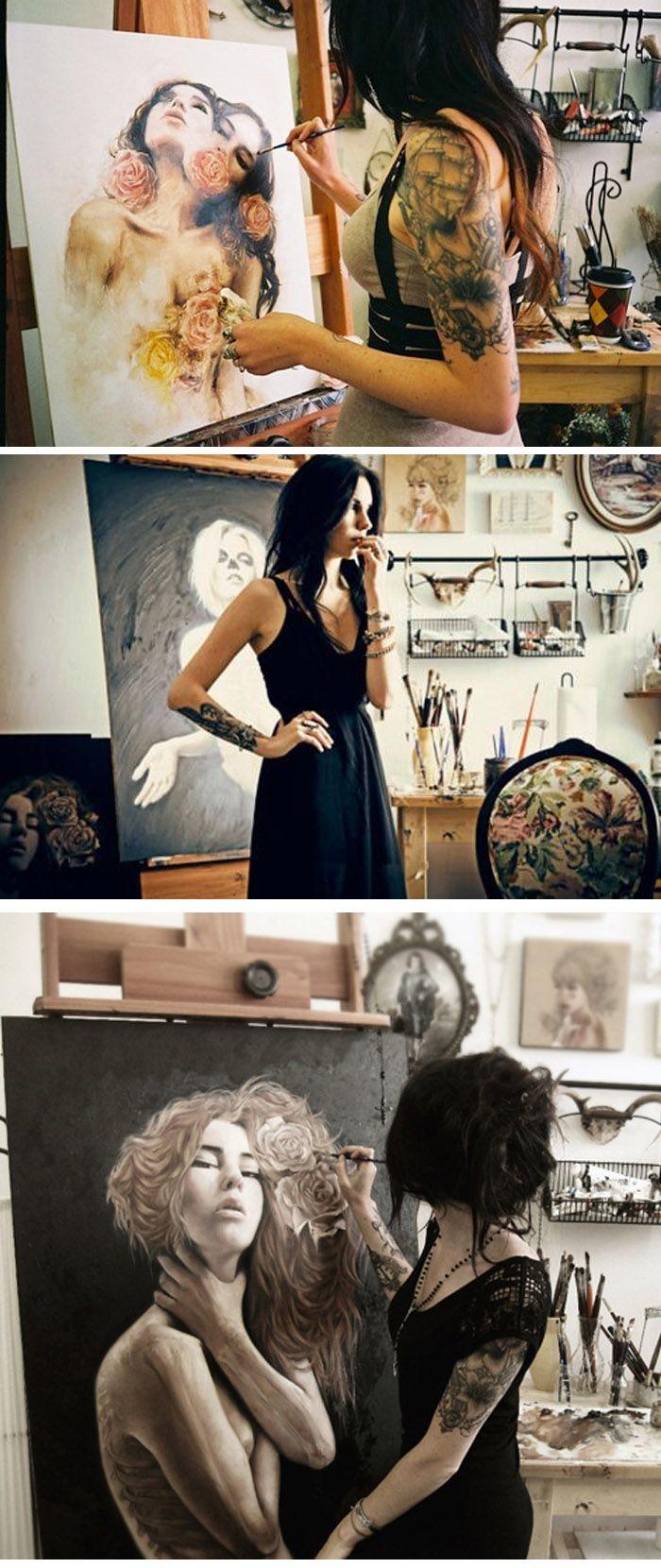 Charmaine Olivia #artist #artistatwork #studio