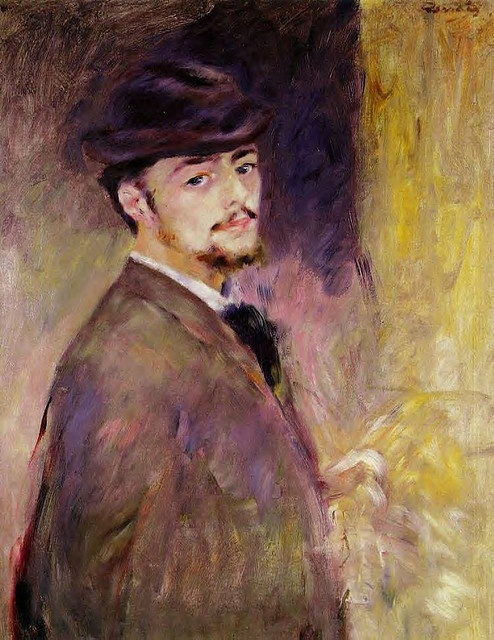 Renoir    Self-Portrait--- looks like my dads friend Steve P