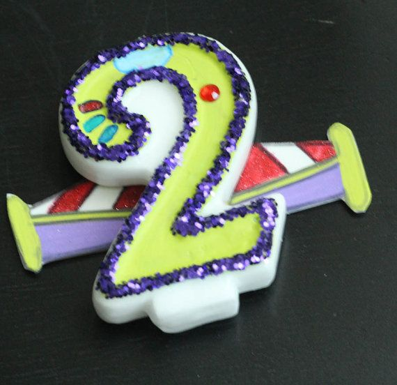 Buzz Lightyear Birthday Candle by GlammedEvents on Etsy