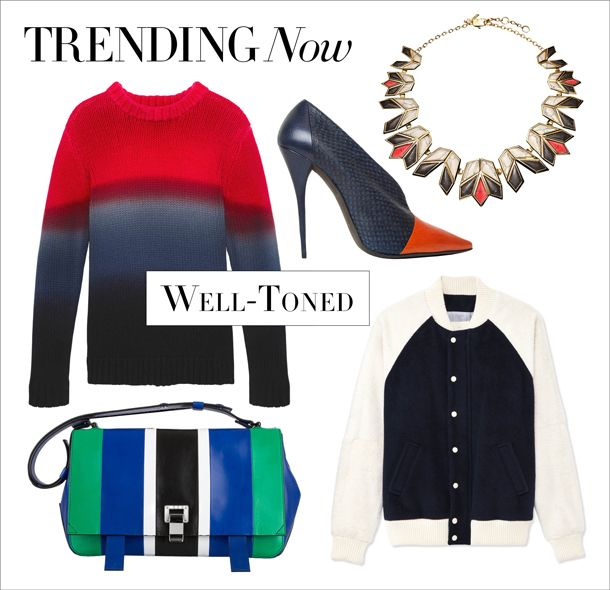 Take a bold approach to color with vivid ombré and color-block pieces at #ShopBAZAAR.