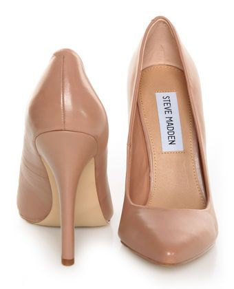 Steve Madden Intrude Blush Leather Pointed Pumps #shoes, #women, https://facebook.com/apps/application.php?id=106186096099420