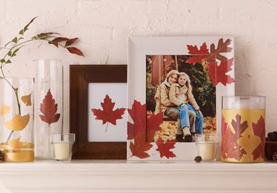 Dare to Decoupage? Share your crafting projects for a chance to win a year's supply of Martha Stewart Crafts Decoupage! #marthastewartcrafts: Crafts Ideas, Fall Decor, Fall Mantels, Fall Crafts, Fall Ideas, Crafts Diy, Crafts Decoupage, Craft Ideas, Autumn Crafts