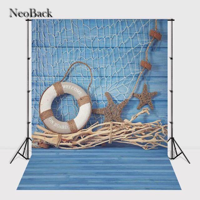 NeoBack 3x5ft Виниловая Ткань Деревянный Пол Фотография Фоны Студия Summer Фото Реквизит Фото Фонов 90x150 см Синий украшения