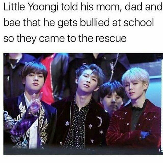 they look so cute protecting lil yoongi .....it's lyk....the ones who tease yoongi....are going die....#game over✌