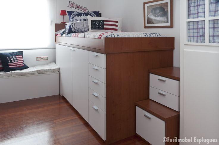 Habitaci n juvenil de est tica american look orden y - Armario bajo cama ...