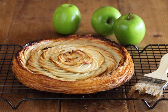 Maggie Beer's Fine Apple Tart with Verjuice and Honey