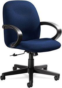 Global 4561BKIM14 Enterprise Management Series High-Back Swivel/Tilt Chair, Navy Blue