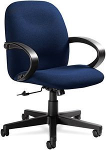 Global 4561BKIM14 Enterprise Management Series High-Back Swivel/Tilt Chair, Navy Blue