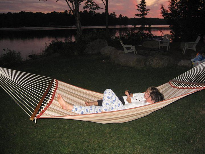 Muskoka sunset in the hammock.
