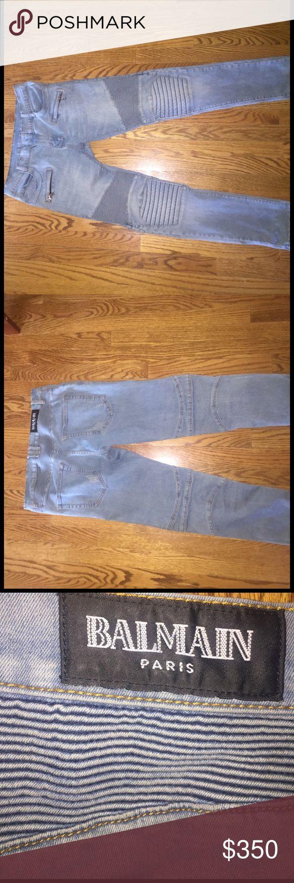 Balmain Jeans giving away for cheap. Light Blue Jeans Size 32 Balmain Jeans Skinny