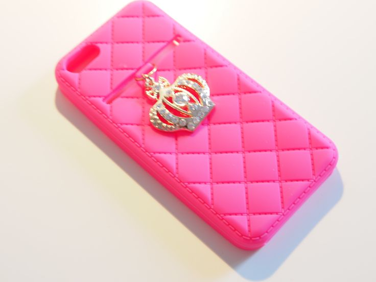 Limited edition iPhone 5 crown case in hot pink from online boutique:  www.adornedbylove.com