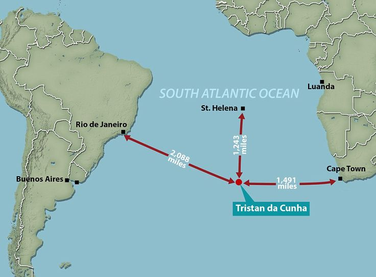 The vast distances that must be travelled to get to Tristan da Cunha, which  lays claim to being the most remote inhabited island in the world