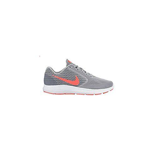 Nike Women's Revolution 3 Wlf Gry/Hypr Orng/Cl Gry/Atmc Running Shoe
