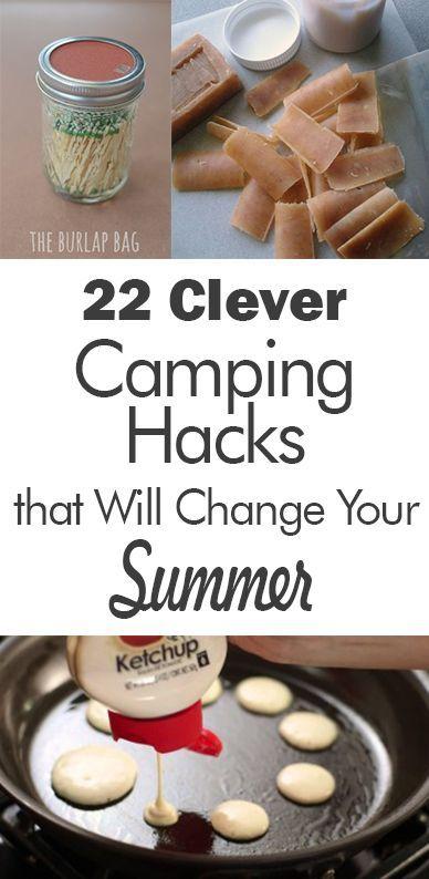 camping ideas, camping hacks, popular camping tips