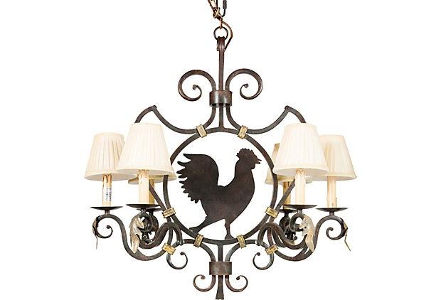 Rooster Chandelier On Onekingslane Com Fall Gathering