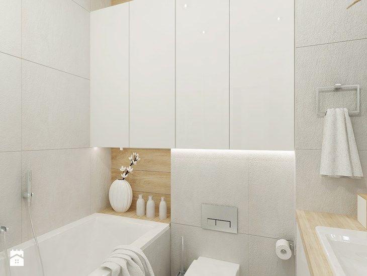 Projekt Mieszkania Na Bielanach O Pow. 51,5 M2.   Łazienka, Styl · Bad  Inspiration